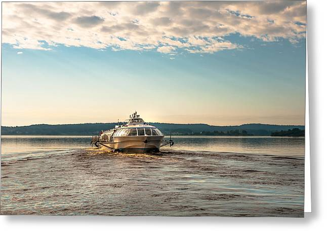 Spa Center Greeting Cards - Ladoga Lake Transfer Greeting Card by Jenny Rainbow
