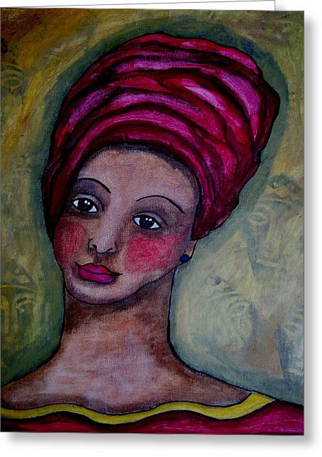 African Heritage Greeting Cards - Ladora Greeting Card by Tori Radford