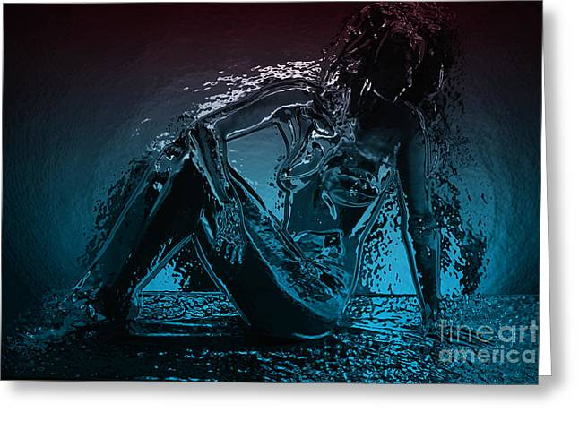 Nude Art Digital Art Greeting Cards - Lady - 2 Greeting Card by Naman Imagery