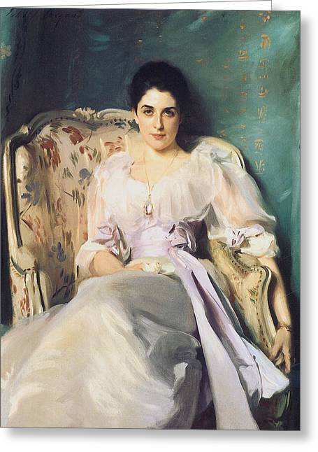 Woman In A Dress Paintings Greeting Cards - Lady Agnew of Lochnaw Greeting Card by John Singer Sargent