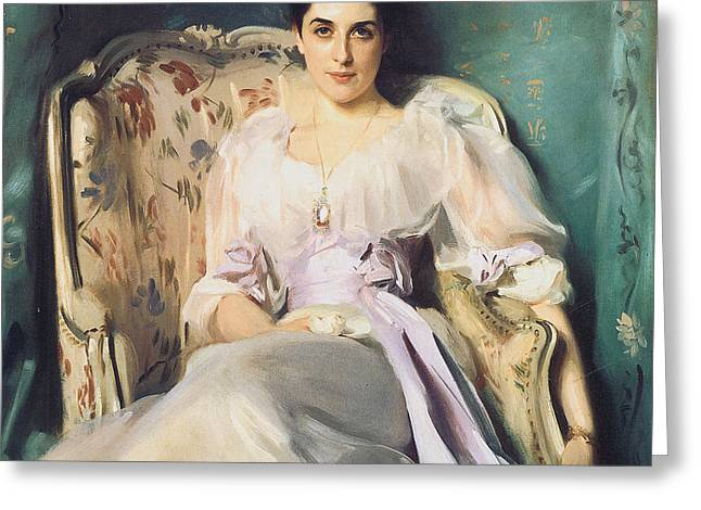 Lady Agnew of Lochnaw Greeting Card by John Singer Sargent