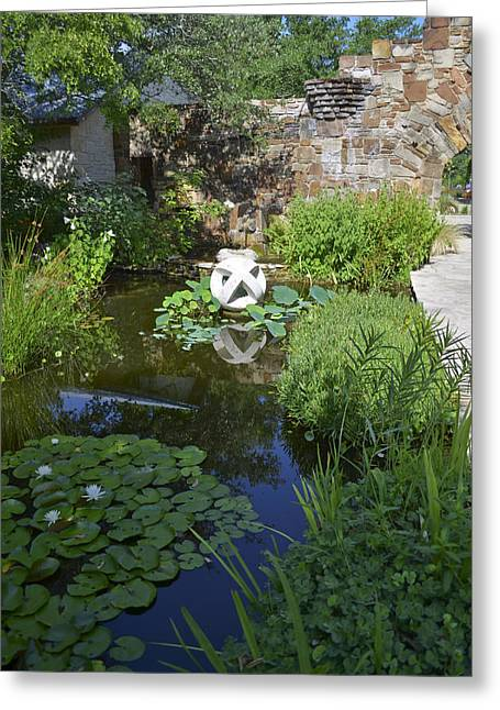 Nature Center Pond Greeting Cards - Lady Bird Johnson Wildflower Center Greeting Card by Allen Sheffield