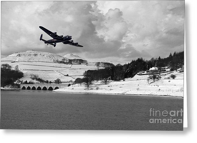 Lady Bower Snowfall  Greeting Card by J Biggadike