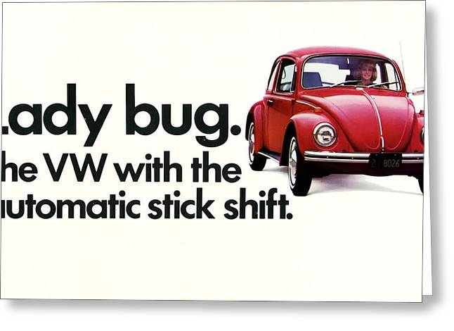 Vw Beetle Greeting Cards - Lady Bug Greeting Card by Nomad Art And  Design
