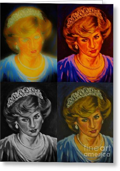 Lady Diana Greeting Card by John Malone