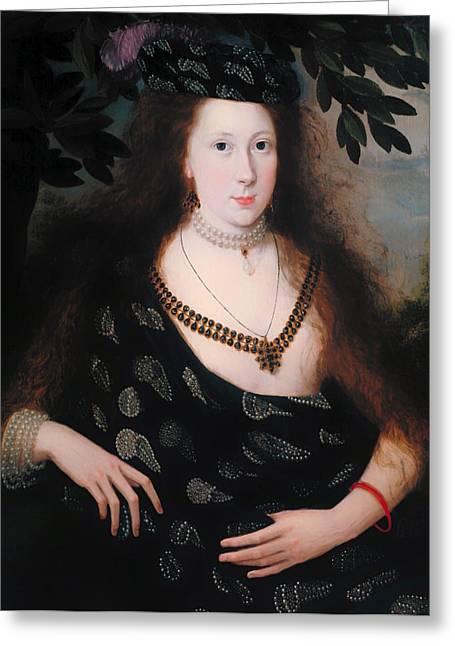 Low-cut Dress Greeting Cards - Lady Elizabeth Polk Greeting Card by Robert Peake