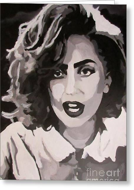 Frank Miller Greeting Cards - Lady Gaga as Bertha in Sin City Greeting Card by John Malone