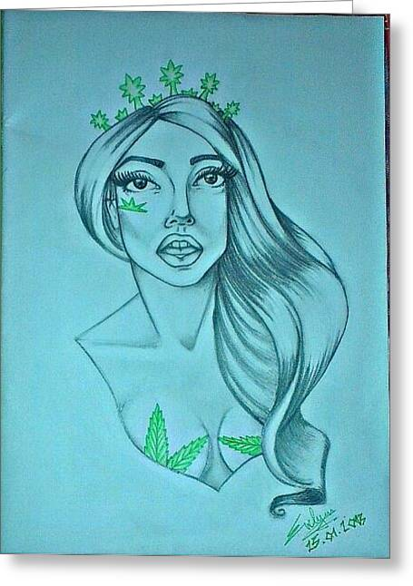 Coloured Pastels Greeting Cards - Lady Gaga Greeting Card by Evelyn Cseh