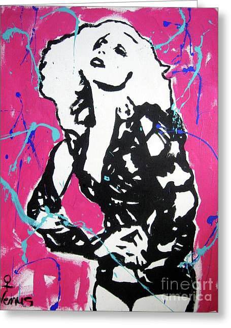 Posters Of Women Mixed Media Greeting Cards - Lady Gaga Greeting Card by Venus