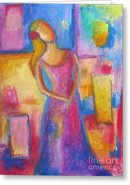 Interior Still Life Pastels Greeting Cards - Lady Grace Greeting Card by Venus