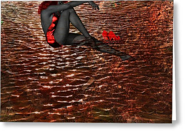 Tn Mixed Media Greeting Cards - Lady in the Lake Greeting Card by EricaMaxine  Price