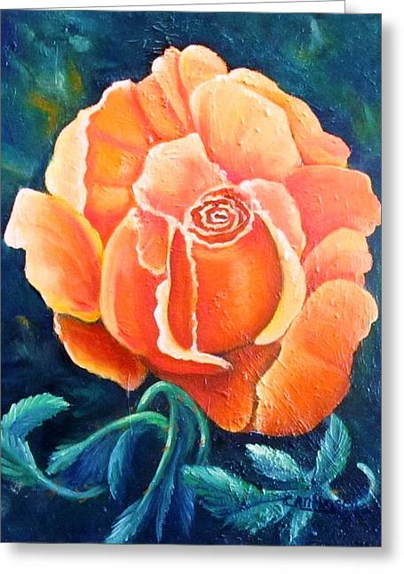Lady In Waiting Greeting Card by Carol Allen Anfinsen