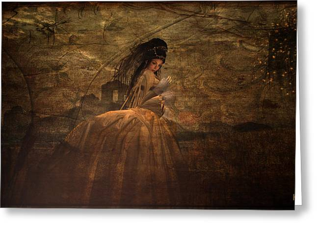Evening Dress Digital Art Greeting Cards - Lady in Waiting Greeting Card by Kylie Sabra