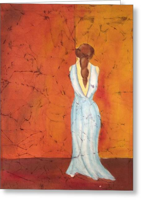 Nostalgic Tapestries - Textiles Greeting Cards - Lady in Waiting Greeting Card by Peggy D