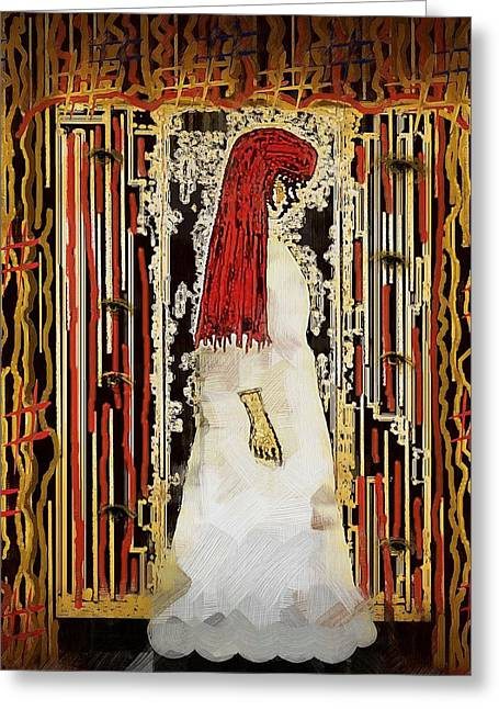 Lady In White Greeting Card by Pepita Selles