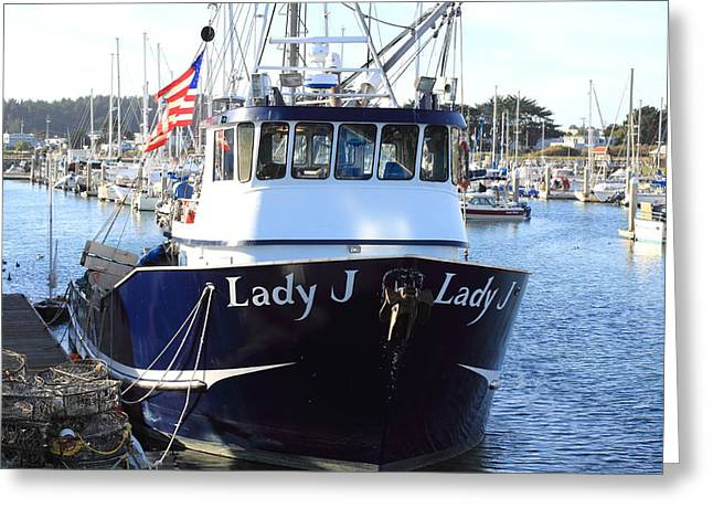 Half Moon Bay Greeting Cards - Lady J Greeting Card by Scott Hill