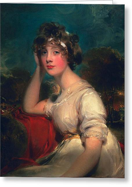 Aristocratic Greeting Cards - Lady Jane Long, 1793 Greeting Card by Thomas Lawrence