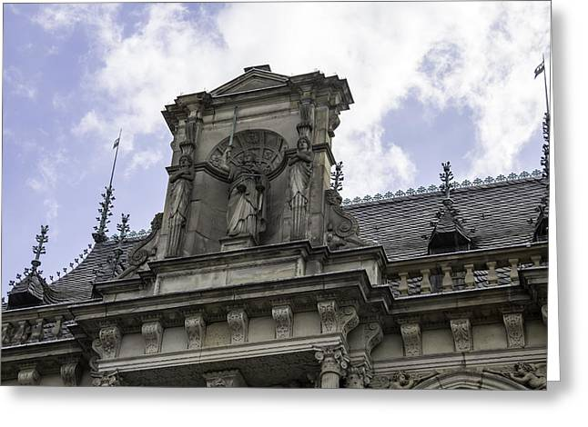 Lady Justice City Hall Cologne Germany Greeting Card by Teresa Mucha