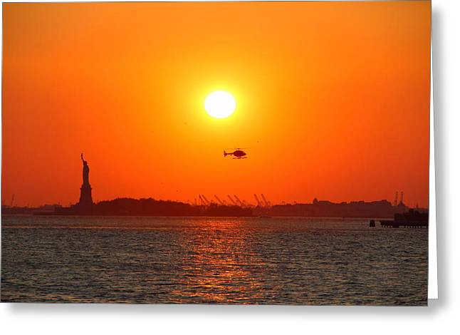 Lady Liberty Greeting Card by Andrea Galiffi