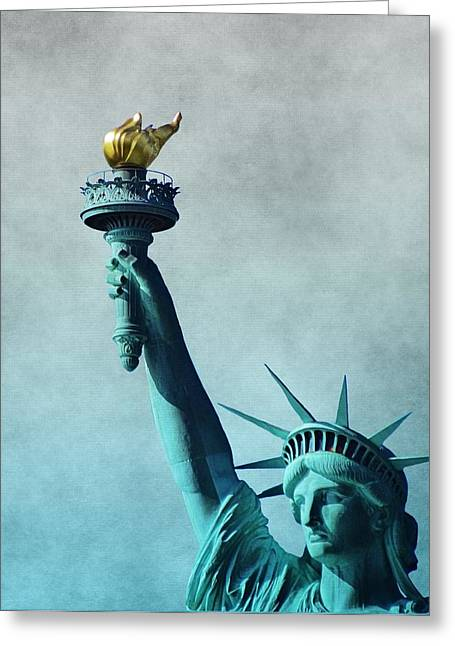 National Anthem Greeting Cards - Lady Liberty Greeting Card by Dan Sproul