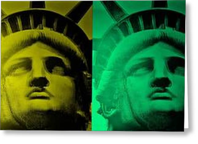 Turquoise And Rust Greeting Cards - Lady Liberty For All Greeting Card by Rob Hans
