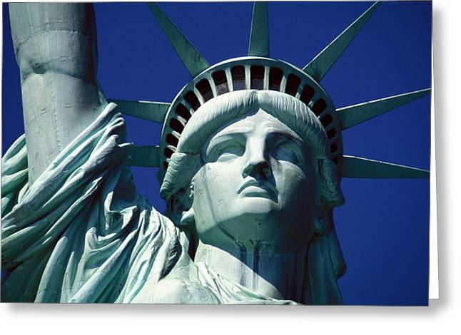 Statue Greeting Cards - Lady Liberty Greeting Card by Jon Neidert