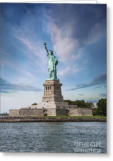 Enlightening Greeting Cards - Lady Liberty Greeting Card by Juli Scalzi