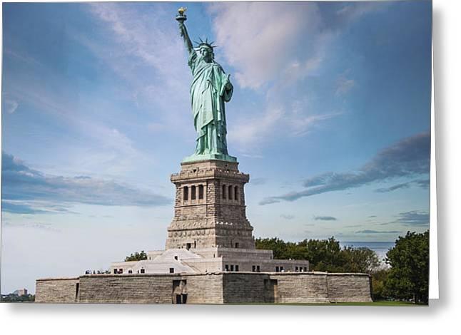 Lady Liberty Greeting Card by Juli Scalzi