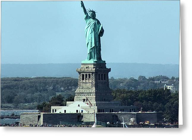 Lady Liberty Greeting Card by Kristin Elmquist