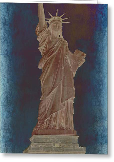 Historic Statue Greeting Cards - Lady Liberty No 10 Greeting Card by Stephen Stookey