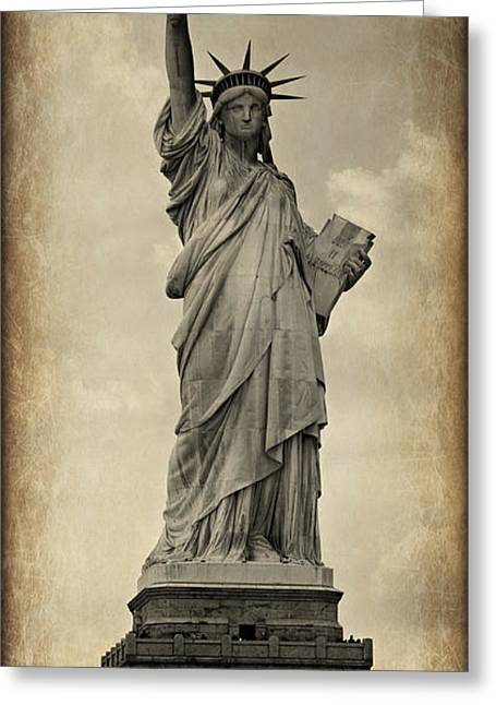 Historic Statue Greeting Cards - Lady Liberty No 11 Greeting Card by Stephen Stookey