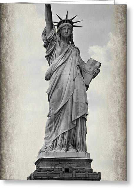 Historic Statue Greeting Cards - Lady Liberty No 6 Greeting Card by Stephen Stookey