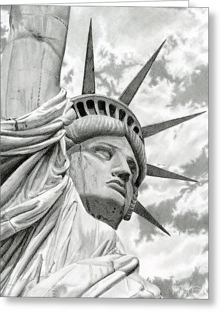 Lady Liberty  Greeting Card by Sarah Batalka