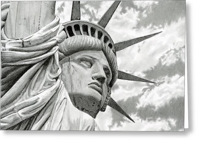 Lady Liberty  Greeting Card by Sarah Batalka