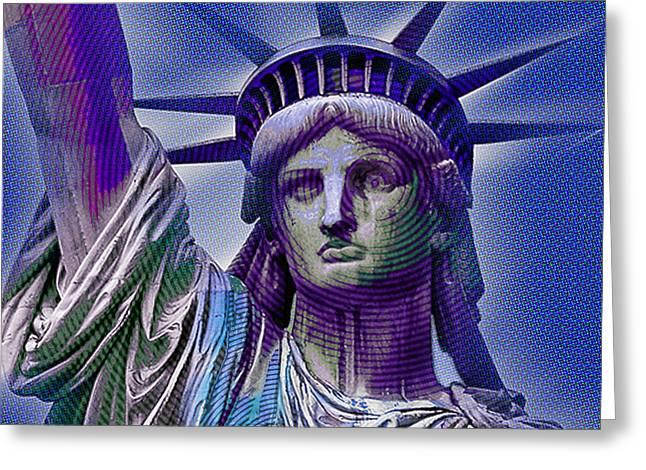 Patriot Art Prints Greeting Cards - Lady Liberty Greeting Card by Tony Rubino