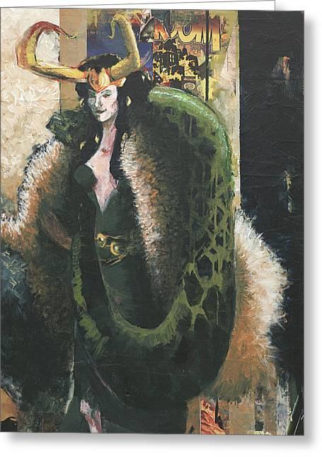 Thor Greeting Cards - Lady Loki Greeting Card by David Leblanc