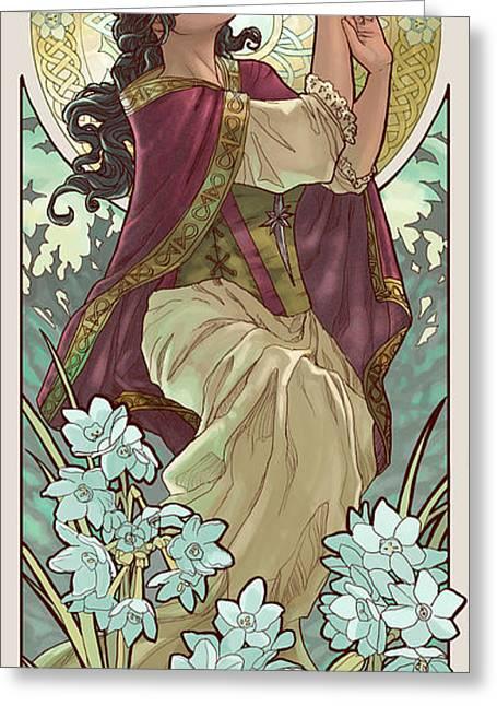 Birthstone Greeting Cards - Lady of December Greeting Card by Angela Sasser