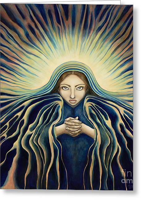 Universal Mother Greeting Cards - Lady of Light Greeting Card by Lyn Pacificar