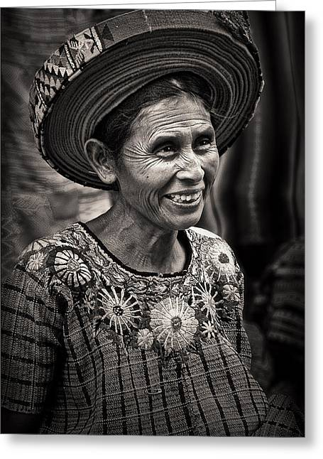 Lady Of Santiago Atitlan Greeting Card by Tom Bell