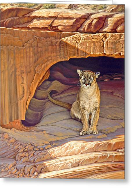 Wildlife Greeting Cards - Lady of the Canyon Greeting Card by Paul Krapf