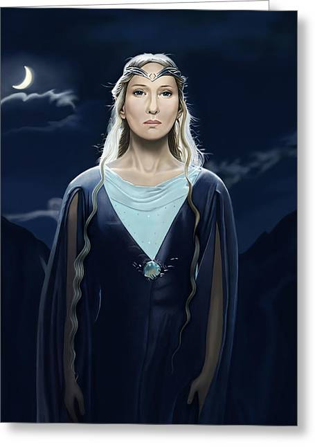 Andrew Harrison Greeting Cards - Lady of the Galadrim Greeting Card by Andrew Harrison