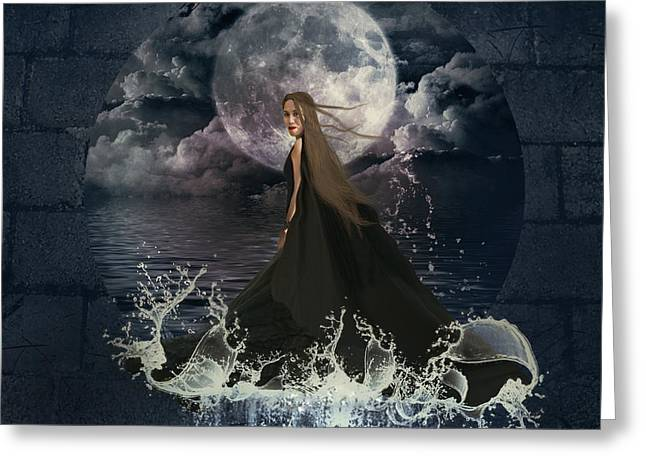 Creative Manipulation Digital Greeting Cards - Lady Of The Sea Greeting Card by Ester  Rogers