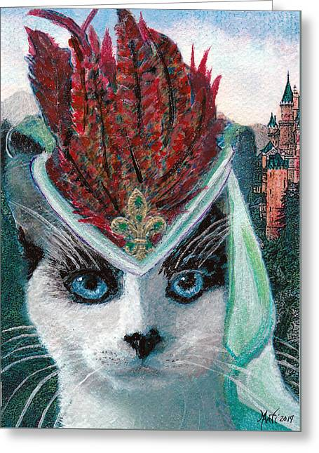 Hat Art Cat In Hat Art Greeting Cards - Lady Snowshoe Greeting Card by Michele  Avanti