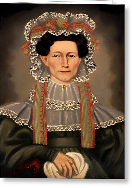 The Houses Greeting Cards - Lady Squire of Williams House Greeting Card by Erastus Field