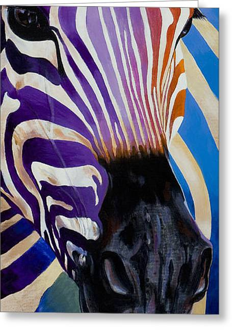 Wildlife Imagery Greeting Cards - Lady Stripes Greeting Card by Bob Coonts