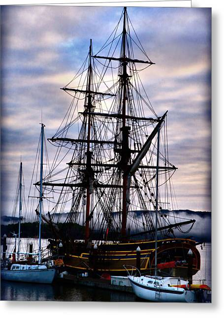 Lady Washington Greeting Cards - Lady Washington Greeting Card by Sally Bauer