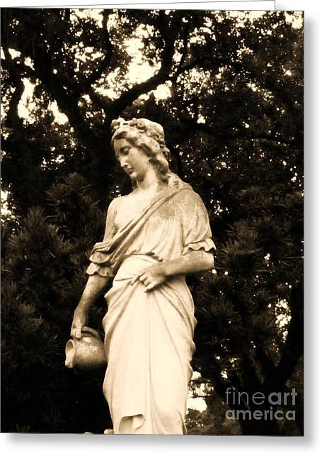 America Sculptures Greeting Cards - Lady With Water I Greeting Card by Nathan Little