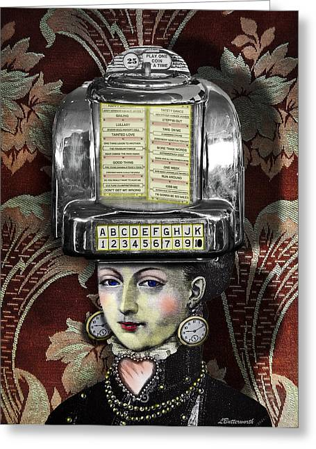 Larry Butterworth Greeting Cards - Lady Wurlitzer Greeting Card by Larry Butterworth