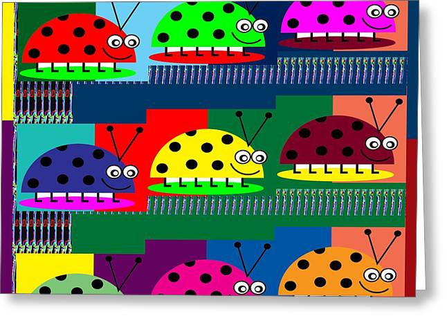 Science Greeting Cards - LADYbug Lady Bug Show  Kids Room  Catagory Science Biology Insects Greeting Card by Navin Joshi