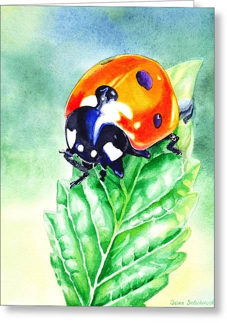 Child Room Decor Greeting Cards - Ladybug Ladybug Where Is Your Home Greeting Card by Irina Sztukowski